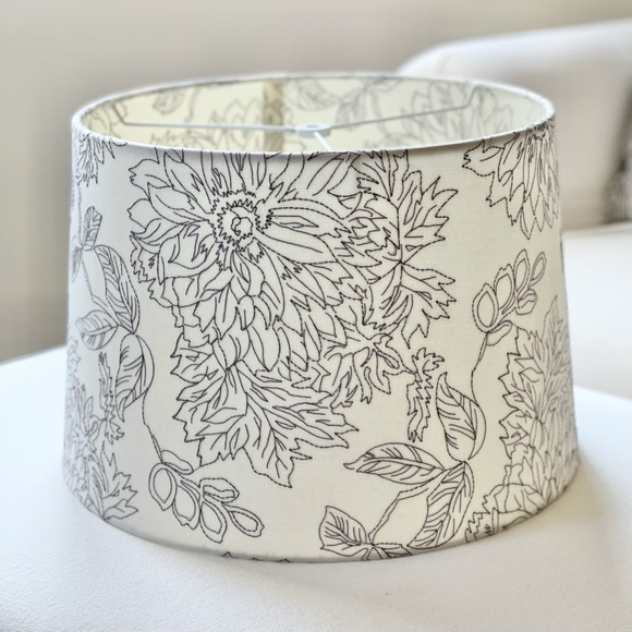 Threshold • Toile Stitched Large Drum Lampshade